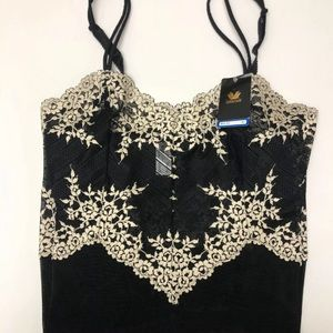 Wacoal Intimates & Sleepwear - Wacoal Embrace Lace Chemise Black Floral Large XL